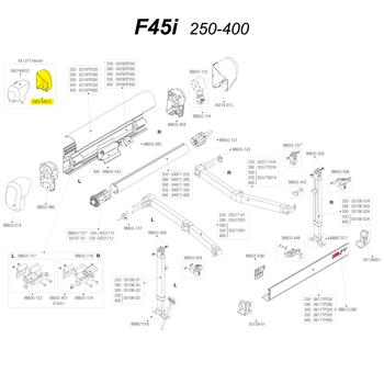 Fiamma 04275A01C F45i Right Cover - Polar White