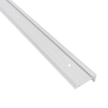 AP Products 021-85001-8 RV Aluminum Medium Leg Corner Molding - White - 8 ft.