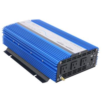 Aims Power PWRI1500 RV DC to AC Pure Sine Wave Power Inverter - 1500 Watt