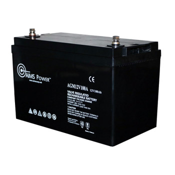 Aims Power AGM12V100A RV Campervan 12V AGM Battery - 100Ah
