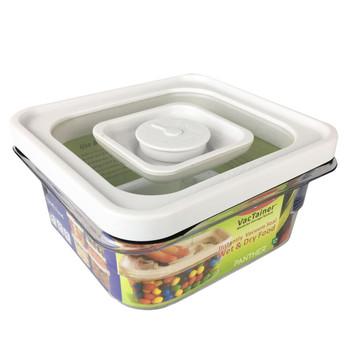 Chef Concepts VT1QT RV Camping Press & Lock Food Storage - 1.1QT  - White