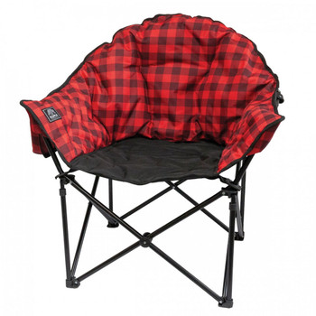 Kuma Outdoors 433-RB Lazy Bear Cushioned Camping Chair - Red