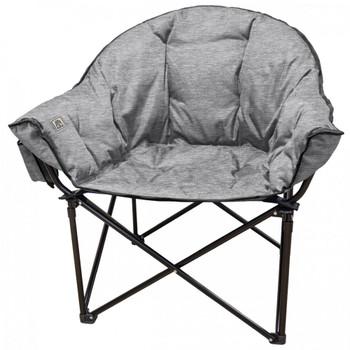 Kuma Outdoors 433-HG Lazy Bear Cushioned Camping Chair - Heather Grey