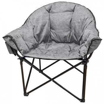 Kuma Outdoors 433-GG Lazy Bear Cushioned Camping Chair - Heather Grey