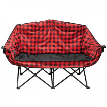 Kuma Outdoors 490-RB Bear Buddy/Double Chair - Red/ Black Plaid