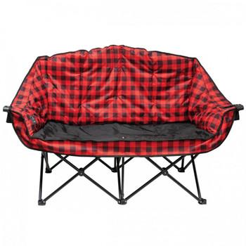 Kuma Outdoors 490-RB Bear Buddy Cushioned Camping Chair - Red/Black Plaid