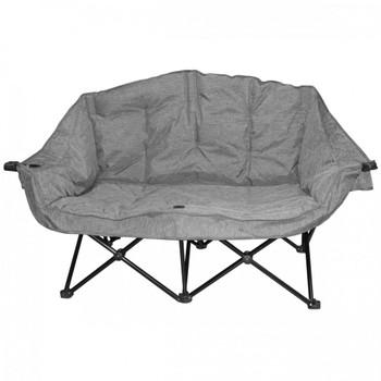 Kuma Outdoors 490-HG Bear Buddy/Double Chair - Heather Grey