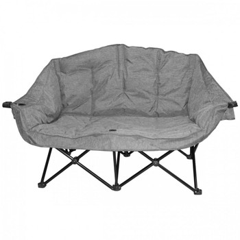 Kuma Outdoors 490-HG Bear Buddy/Double Chair - Heather Grey