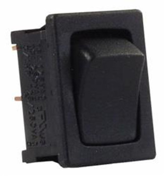 JR Products 12781-1 Mini Rocker Switch On/Off Black