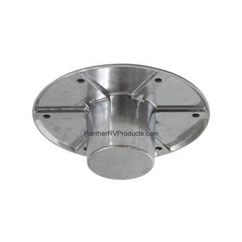 AP Products 013-1112 Round Flush Mount Pedestal Base - Chrome