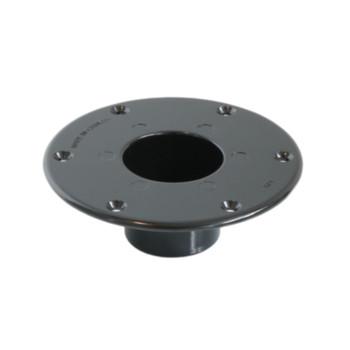 AP Products 013-1112B Round Flush Mount Pedestal Base - Black