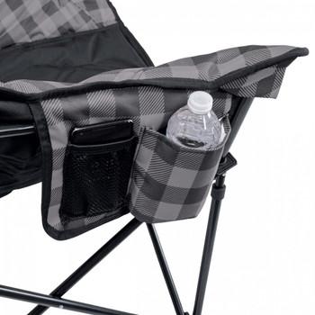 Kuma Outdoors 433-GB Lazy Bear Chair - Grey/Black Plaid