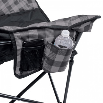 Kuma Outdoors 433-GB Lazy Bear Chair - Grey/Black Plaid