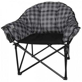 Kuma Outdoors 433-GB Lazy Bear Cushioned Camping Chair - Grey/Black Plaid