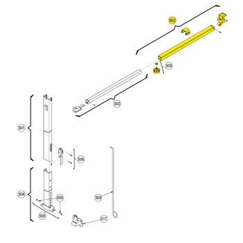 Dometic™ A&E 3314065.008B OEM RV Awning Hardware Main Rafter Assembly - White