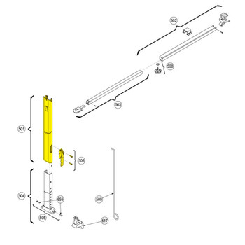 Dometic™ A&E 3314064.001B OEM RV Awning Main Support Arm Assembly - White