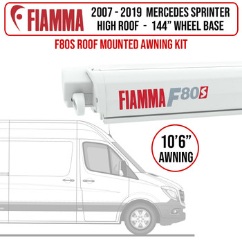 "Fiamma® 07-21 Mercedes Sprinter L2H2 - 144"" WB - F80s Patio Awning Kit"