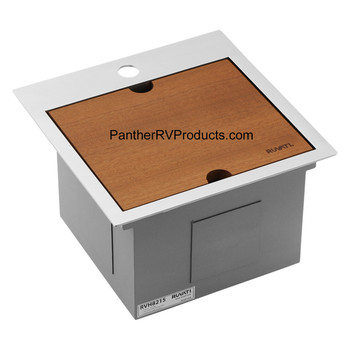 Ruvati RVH8215 Workstation Drop-in Topmount Bar Prep RV Sink - 16 Guage Stainless Steel