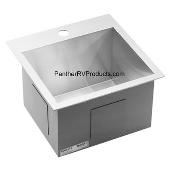 Ruvati RVH8115 Drop-in Topmount Bar Prep RV Sink - 16 Guage Stainless Steel