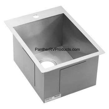 Ruvati RVH8110 Drop-in Topmount Bar Prep RV Sink - 16 Guage Stainless Steel