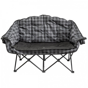 Kuma Outdoors 490-GPB Bear Buddy/Double Chair - Grey/Black Plaid