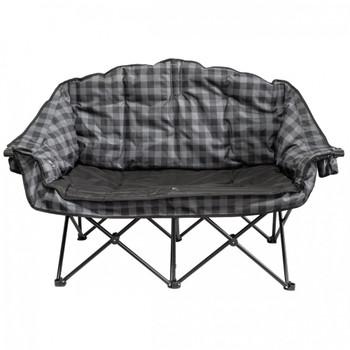 Kuma Outdoors 490-GPB Bear Buddy/Double Chair - Grey/Black Plaid