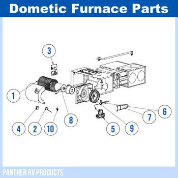 Dometic™ (Hydroflame) 8525-IV RV Propane Heater / Furnace - 25K Parts Breakdown