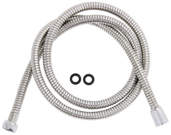 """Camco 43716 Replacement Flexible Showerhead Hose 60"""" - Chrome"""