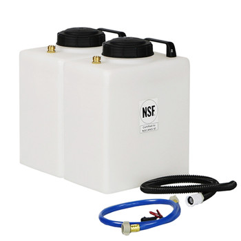 Superior RV Portable Galley Fresh Water & Grey Water Holding Tank Kit
