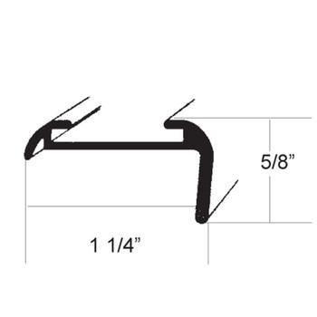 AP Products 021-85001-16 RV Aluminum Medium Leg Corner Molding - White - 16 ft.