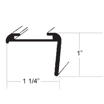 AP Products 021-85202-16 RV Aluminum Long Leg Corner Molding - Black - 16 Ft.