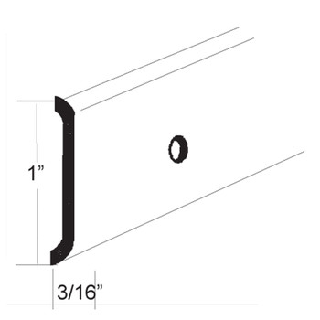 AP Products 021-87203-16 RV Aluminum Flat Trim Molding - Mill - 16 Ft.