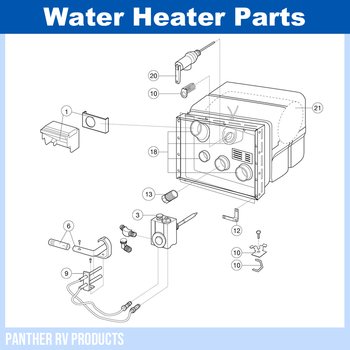 Dometic™ Atwood G6A-6 RV Water Heater Parts Breakdown