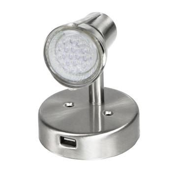 ECO Series L26-0067-USB LED RV Reading Light w/USB  Lamp - Satin Chrome