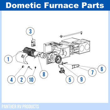 Dometic™ (Hydroflame) 8525-II RV Propane Heater / Furnace - 25K Parts Breakdown