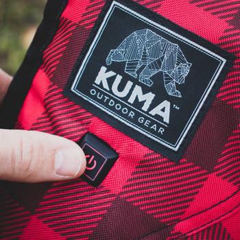 Kuma Outdoors KO846-RB Heated Lazy Bear Chair - Red/Black