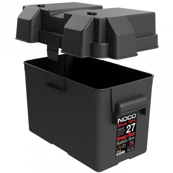 HM327BK Noco Battery Box Group 27 Snap on with Strap