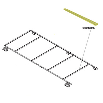 Fiamma 98658-055 OEM Dodge Promaster Roof Rack Crossmember Rail