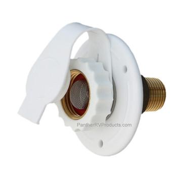 Valterra A01-0170LF Fresh City Water Inlet w/ Check Valve- White