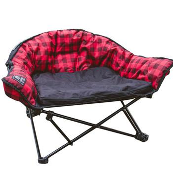 Kuma Outdoors 844-RPB Lazy Dog Bed - Red/Black
