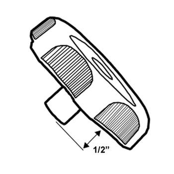 "RV Designer H711 RV Window Crank Knob - Black - 1/2"" Shaft"