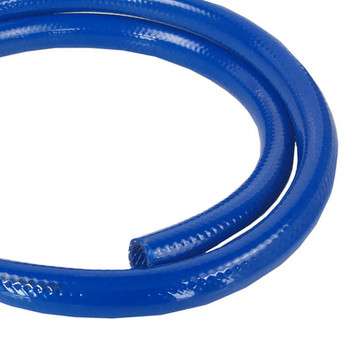 "PRVBLUE10MM RV Fresh Water Blue Braided Vinyl Hose - 3/8"" - Sold by the foot"