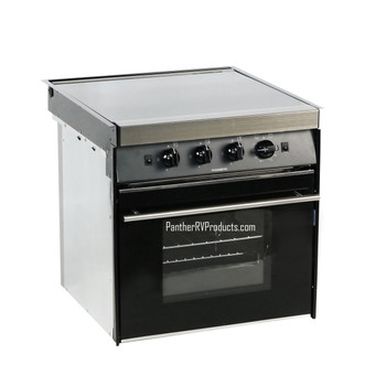 Dometic™ CU-433US  Moonlight RV Propane 3-Burner Stove / Oven - Black