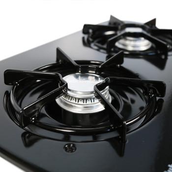 Suburban 3071ABK RV 2-Burner Drop-In Cooktop - Black