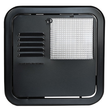 Suburban 6255AEB  Replacement Water Heater Door 6 Gallon Flush Mount - Black