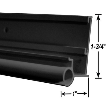 AP Products 021-56302-16 RV Insert Gutter/Awning Rail - Black - 16 Ft.