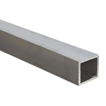 "6061 Extruded Aluminum Square Tubing 1"" x 16 ft  x .062"