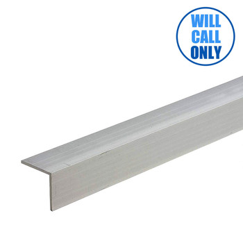 "Extruded Aluminum Trim Angle 1"" x 1"" x 16' - 0.062"" Thick"