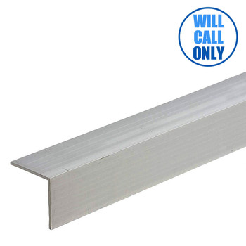 "Extruded Aluminum Trim Angle 1-1/2"" x 1-1/2"" x 16' - 0.062"" Thick"
