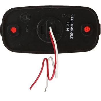Kaper L14-0104R-BLK Red LED Marker Light